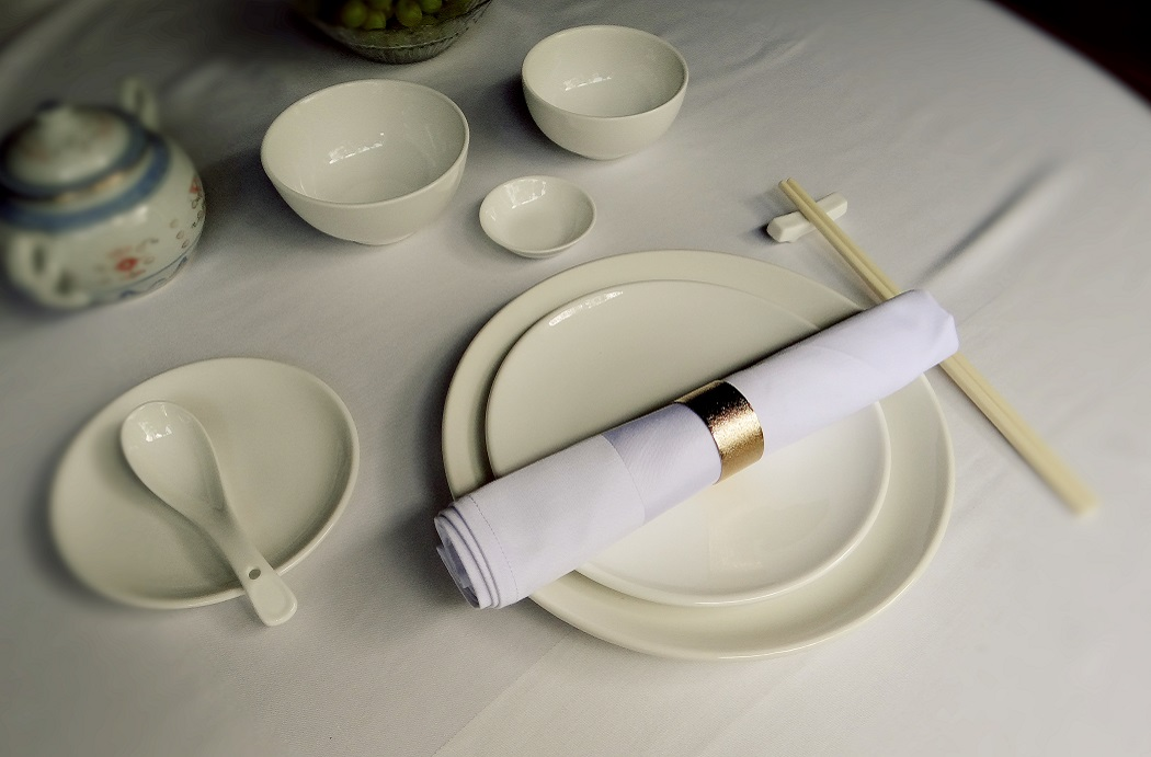 Glass - Chinaware - Cutlery - Kitchen equipment - Table and Chairs - Table linen